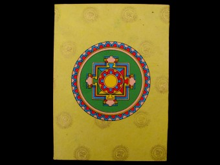 CrA13 Carnet Artisanal Népalais Mandala Om