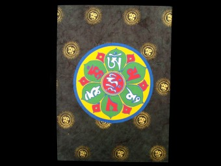 CrA14 Carnet Artisanal Népalais Mantra Om
