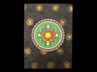 CrA19 Carnet Artisanal Népalais Mandala Om