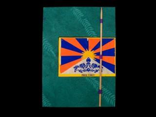CrA40 Carnet Artisanal Népalais Drapeau du Tibet Free Tibet