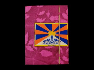 CrA42 Carnet Artisanal Népalais Drapeau du Tibet Free Tibet