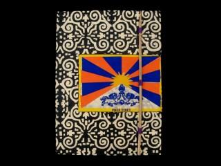 CrA46 Carnet Artisanal Népalais Drapeau du Tibet Free Tibet