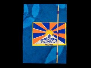 CrA49 Carnet Artisanal Népalais Drapeau du Tibet Free Tibet