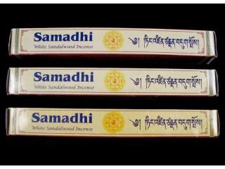 Ens04 Lot de 3 Boites d'Encens Tibétain Bois de Santal Blanc Samadhi