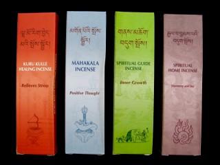 Ens14 Lot de 4 Boites d'Encens Tibétain