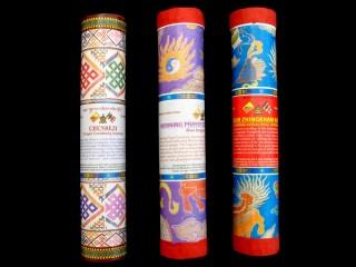Ens19 Lot de 3 Boites d'Encens Tibétain