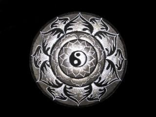 PB23 Pièce Brodée Yin Yang Mandala