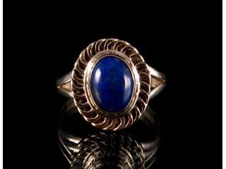 BA139 Bague Argent Massif Lapis Lazuli. Taille 52
