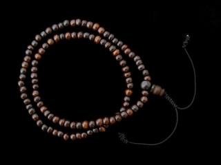 Mala84 Mala de Prières Tibétain Os de Buffle Elastique