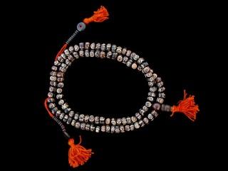 Mala91 Mala de Prières Tibétain Os de Buffle
