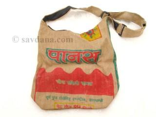 Sac78 Sac Besace du Népal en Jute