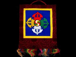 BB74 Bannière Tibétaine Double Dorje