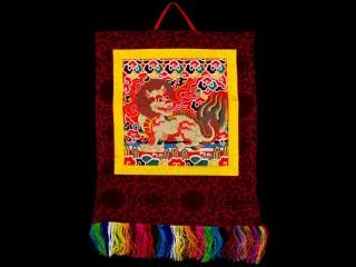 BB76 Bannière Tibétaine Lion des Neiges