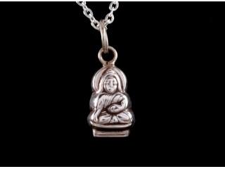 PA222 Petit Pendentif Argent Massif Bouddha