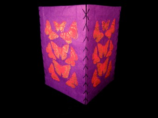 AJ44 Abat-Jour Papillon 4 faces