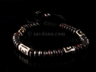 BrD218 Bracelet Tibétain Os de Buffle