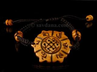BrD221 Bracelet Tibétain Noeud Sans Fin Mantra