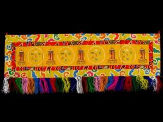 BB85 Bannière Tibétaine Astamangala Kalachakra