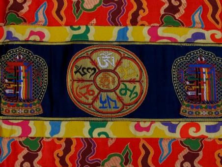 BB86 Bannière Tibétaine Astamangala Kalachakra