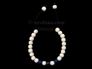BrMalaEnfant03 Bracelet Mala Bois Lapis Lazuli. 14 cm