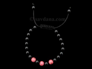 BrMalaEnfant09 Bracelet Mala Onyx Jaspe. 14 cm
