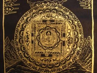 AF53 Affiche Tibétaine Papier Népalais Bouddha