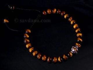 BrMala347 Bracelet Mala Oeil de Tigre. 22 cm