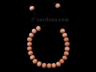 BrMala375 Bracelet Mala de Prières Tibétain Bois. 20 cm