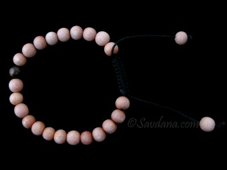 BrMala377 Bracelet Mala de Prières Tibétain Bois