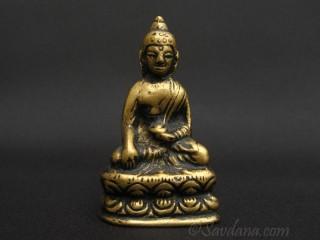St81 Statue Bouddha Laiton