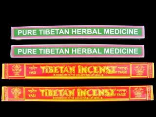 Ens25 Lot de 4 Boites d'Encens Tibétain