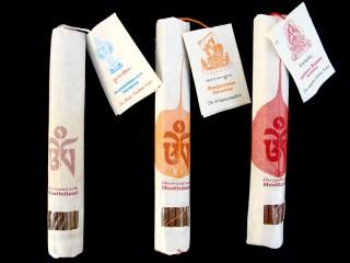 Ens26 Lot de 3 Boites d'Encens Tibétain Feuille de Bodhi Om