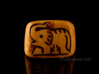 BO12 Bague Tibétaine Os de Buffle Eléphant