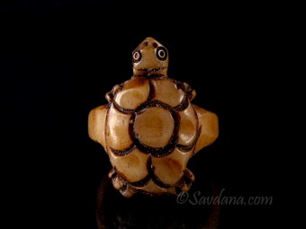 BO27 Bague Tibétaine Os de Buffle Tortue