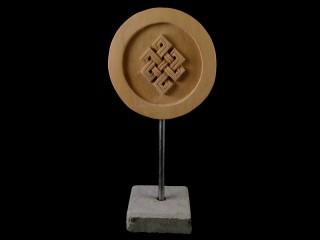 Div65 Sculpture Noeud Sans Fin Bois Exotique