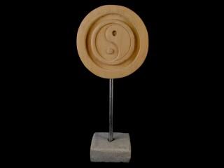 Div68 Sculpture Yin Yang Bois Exotique
