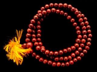 Mala37 Mala de Prières Tibétain Bois