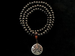 Mala82 Mala de Prières Tibétain Bois Mantra