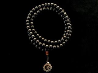 Mala99 Mala de Prières Tibétain Bois Om