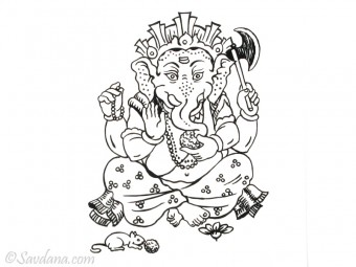 AF72 Affiche du Népal Ganesh