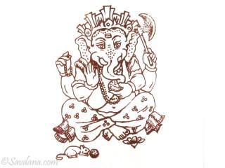 AF74 Affiche du Népal Ganesh
