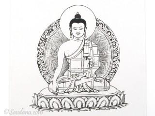 AF89 Affiche du Népal Bouddha