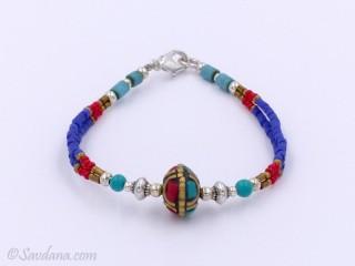 BrD244 Bracelet Tibétain 18 cm
