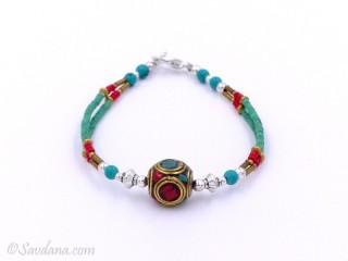 BrD254 Bracelet Tibétain 18,5 cm