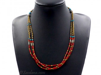 CD112 Collier Tibétain 57 cm