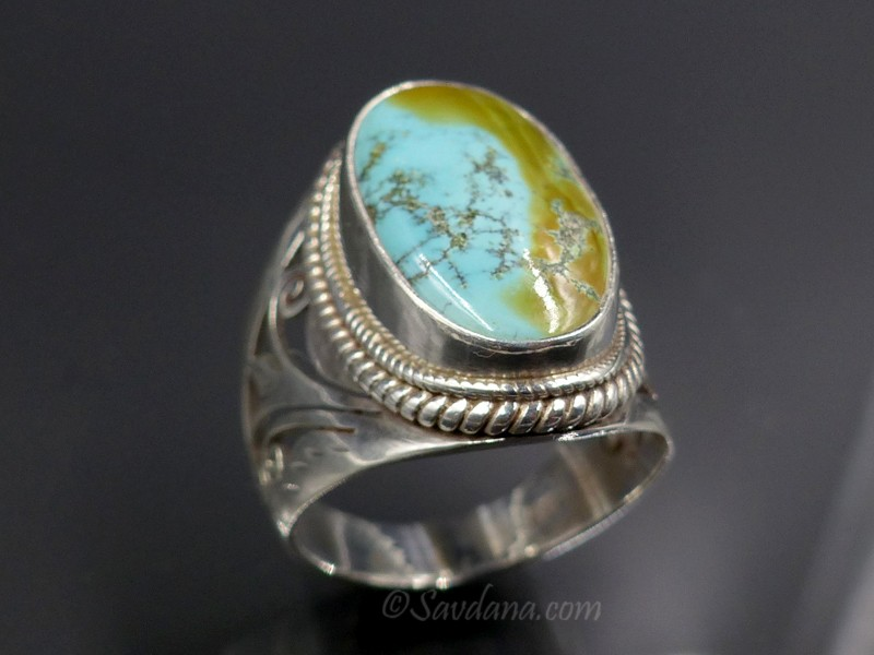 Bague turquoise nepal