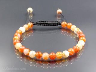 BrMala383 Bracelet Mala Agate