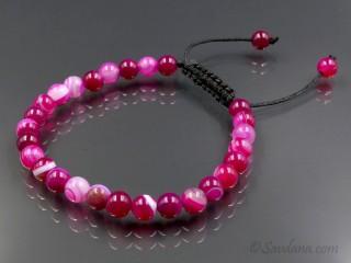 BrMala387 Bracelet Mala Agate. 20 cm
