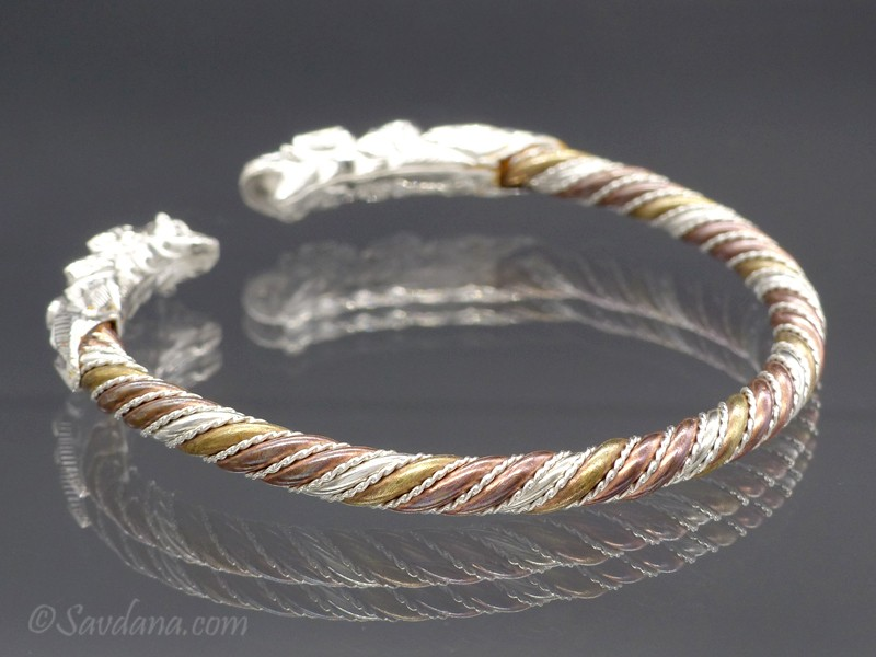 bracelet argent dragon