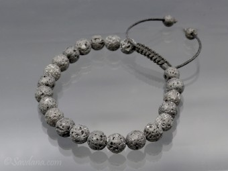 BrMala388 Bracelet Mala Pierre de Lave. 23 cm